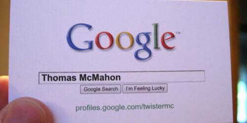 Business Card Thomas McMahon
