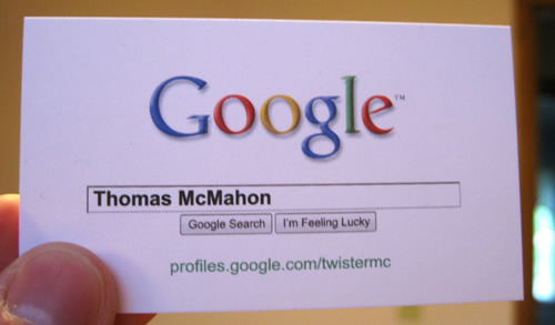 Business Card Thomas McMahon