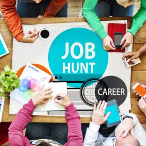People working together on job hunting & career exploration
